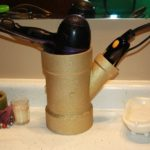 PVC Pipe Hair Dryer and Straightener Organizer