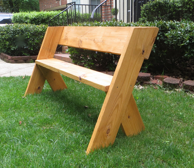 Simple Outdoor Wood Bench
