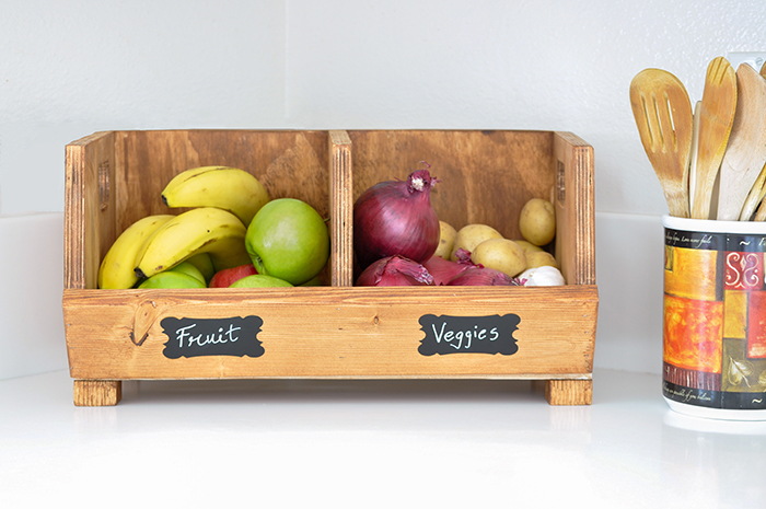 Vegetable Storage Bin with Dividers
