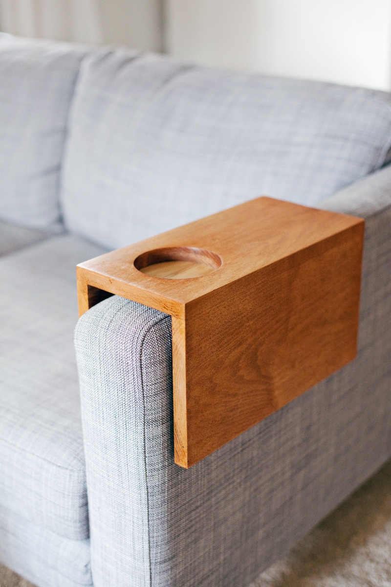 Wooden Sofa Cup Holder