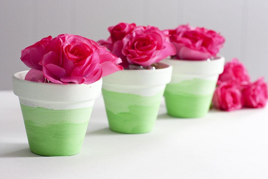 Mini Ombre Painted Flower Pots