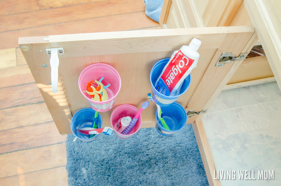 Organizing Toothbrushes and Toothpaste Out of Sight