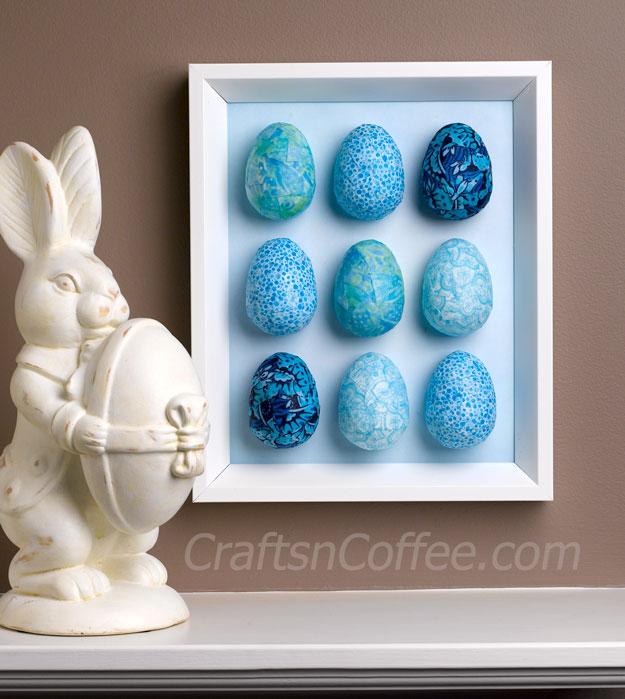 Decoupaged Egg Wall Art