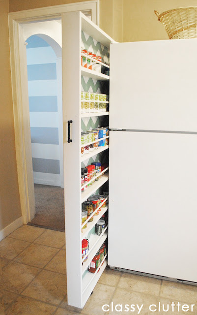 Hidden Canned Food Storage Cabinet