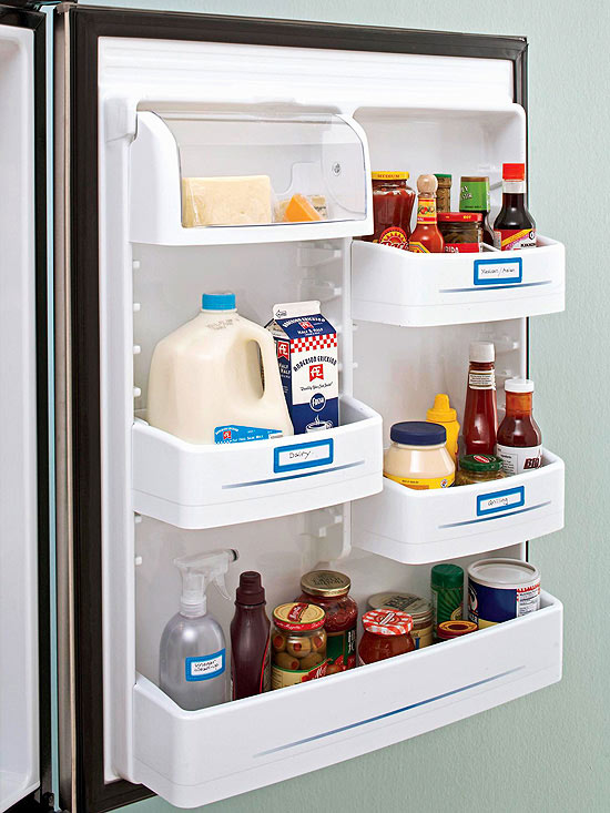 Add labels to your refrigerator shelves