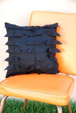 Batty Felt Pillow