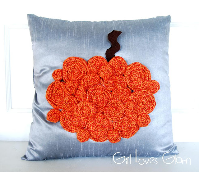 rosette pumpkin pillow