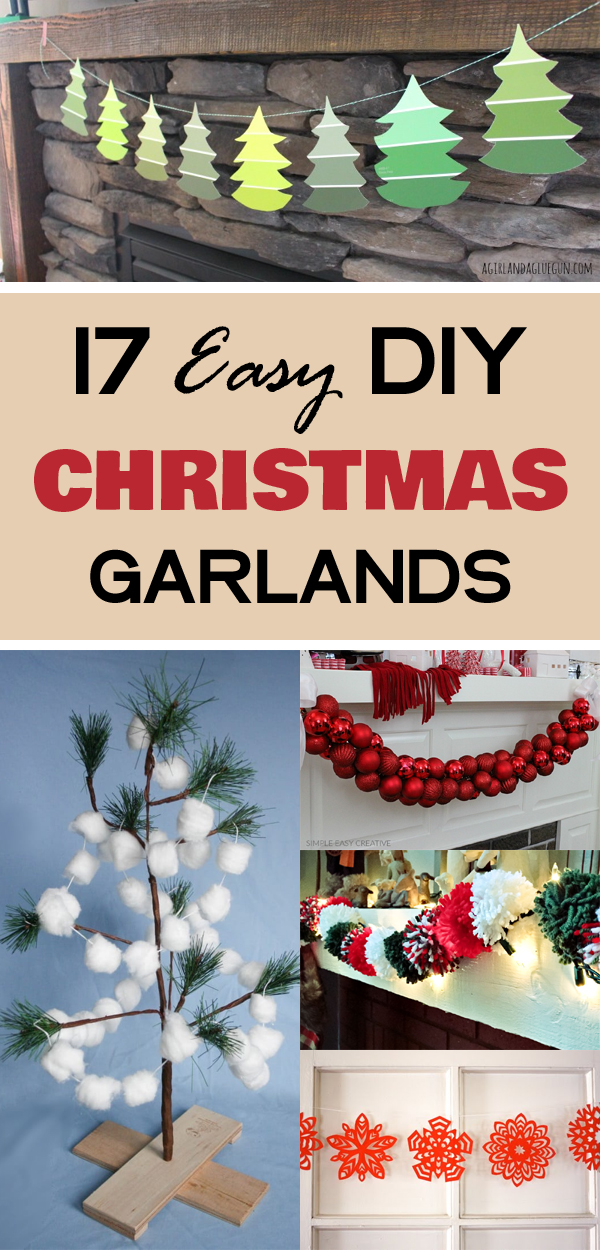 17 Easy DIY Christmas Garlands to Spruce Up Your Home