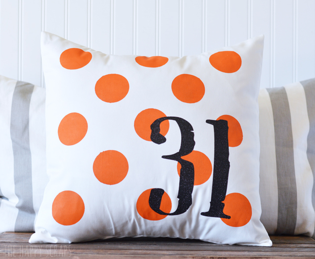Halloween Polka Dot Pillow