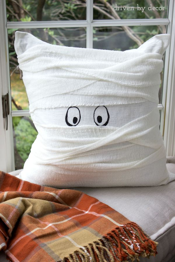 Halloween mummy pillow
