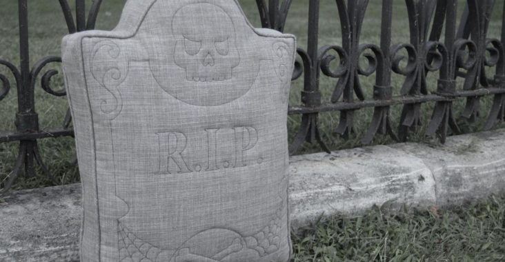 R.I.P. Tombstone Pillow