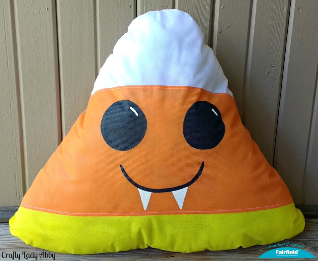 vampire candy corn pillow
