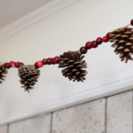 Cranberry and Pine Cone Garland