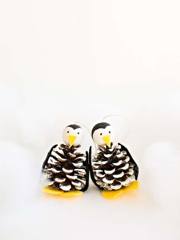 pinecone penguins