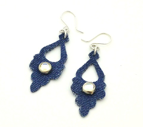 Easy Denim Earrings