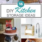 16 DIY Kitchen Storage Ideas