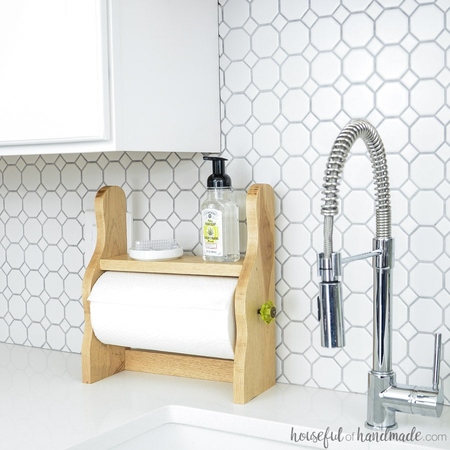 Paper Towel Holder with a Shelf