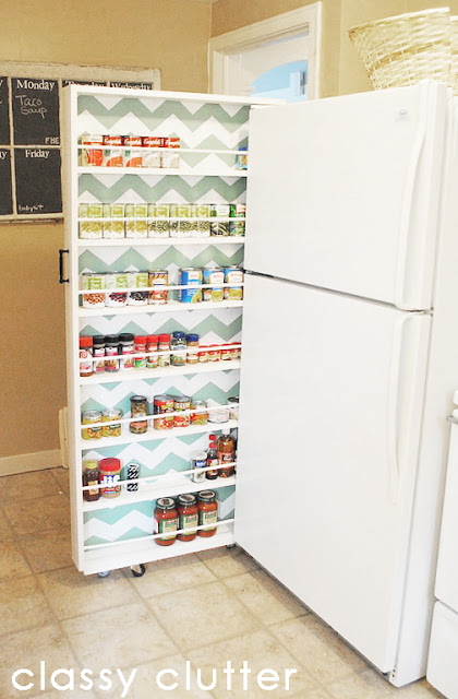 Pull-Out Hidden Storage Cabinet