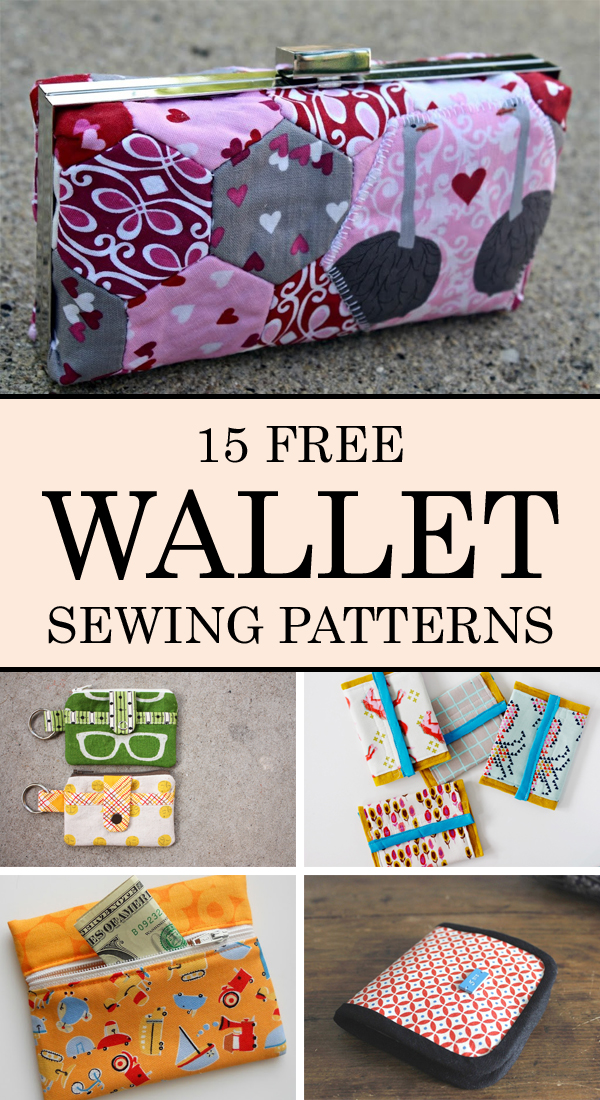15 Free Wallet Sewing Patterns