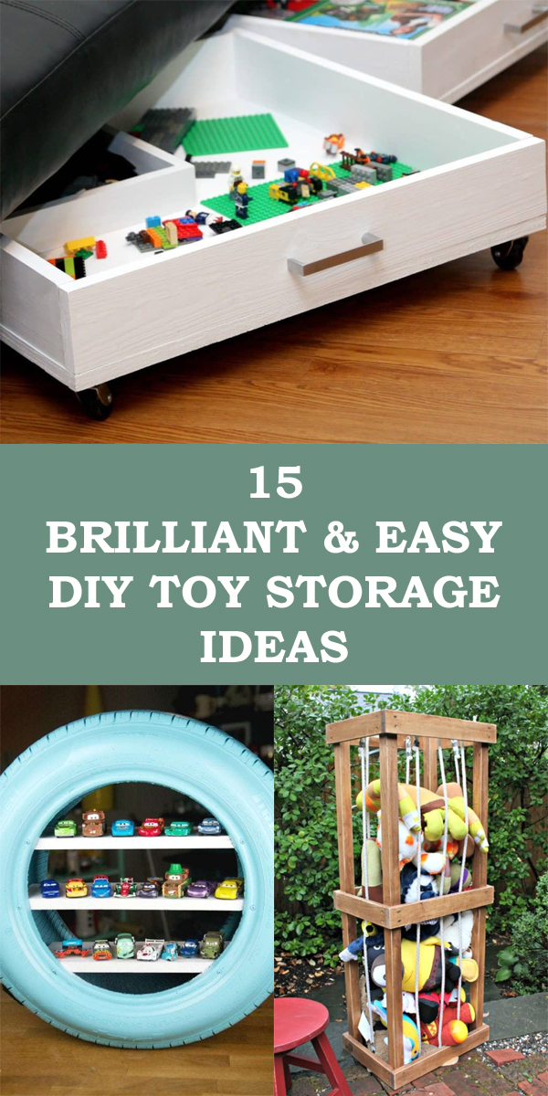15 Brilliant And Easy DIY Toy Storage Ideas