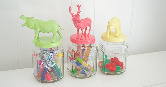 Animal-Topped Mason Jars