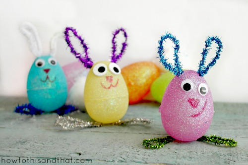 Plastic Egg Easter Bunnies