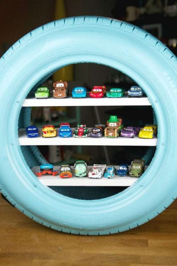 Tire Toy Shelf