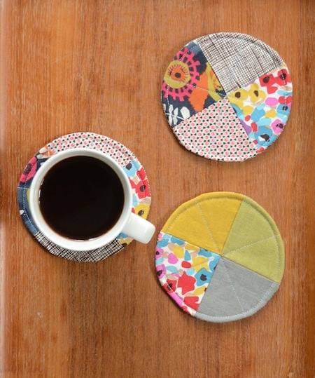 Quilted Circle Coasters
