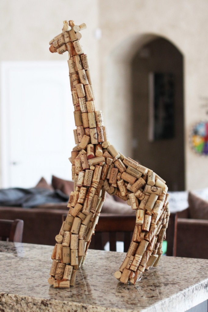 Giraffe Cork Sculpture