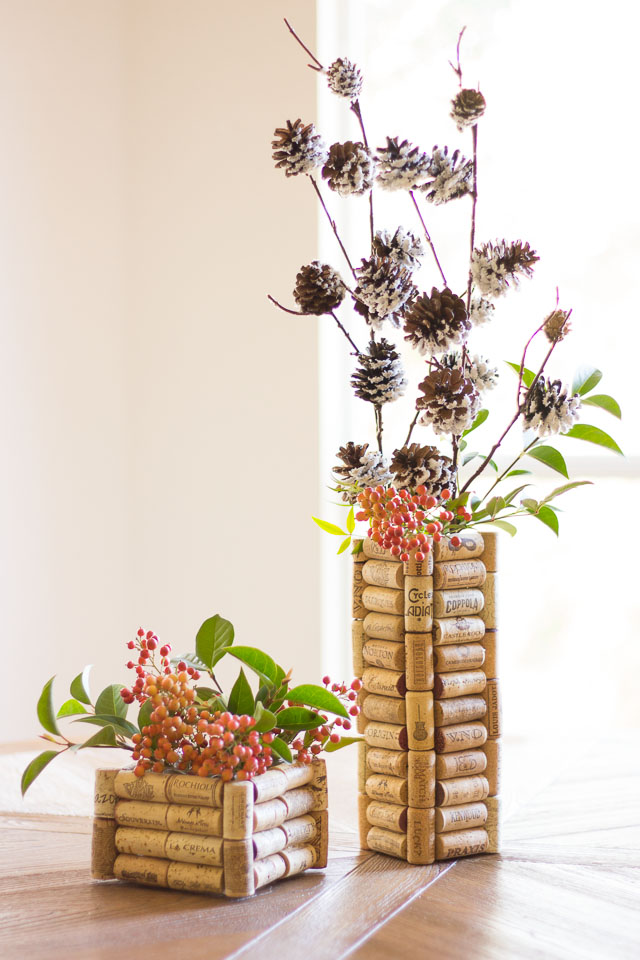 Wine Cork Flower Vases