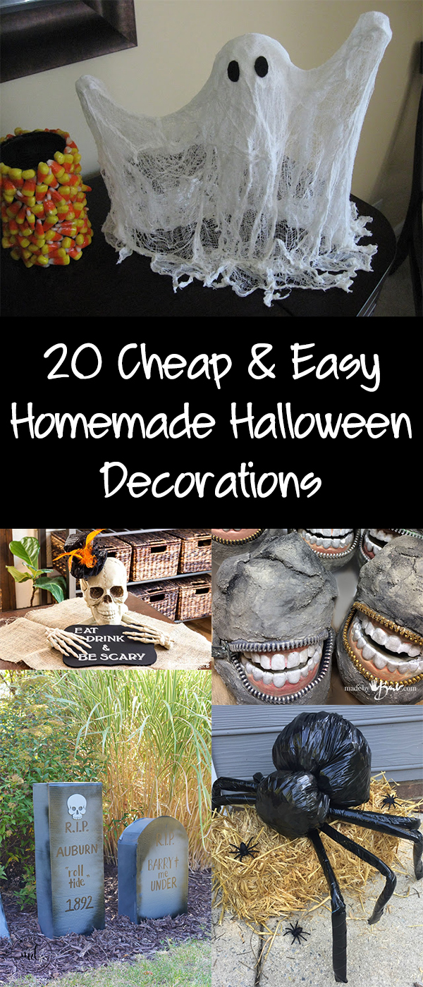 20 Cheap & Easy Homemade Halloween Decorations to Spookify Your Home