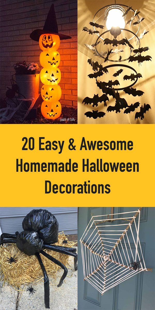 20 Easy & Awesome Homemade Halloween Decorations