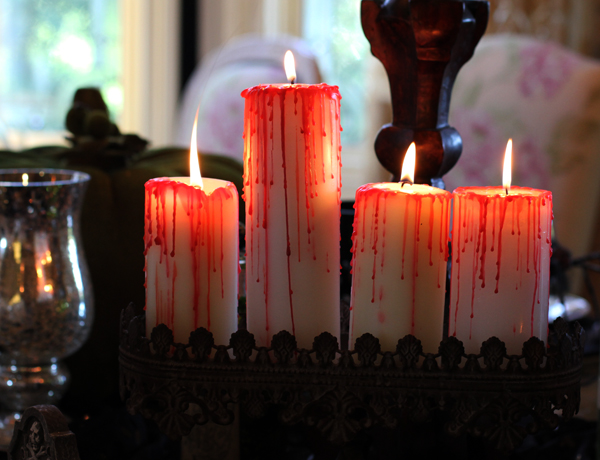 Blood Dripped Halloween Candles