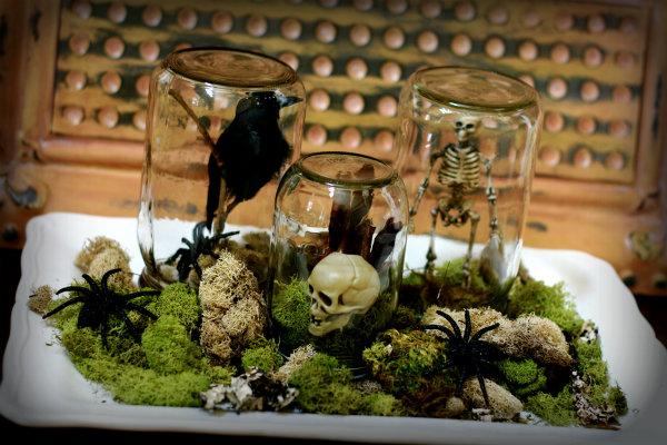 Mason Jar Spooky Terrariums
