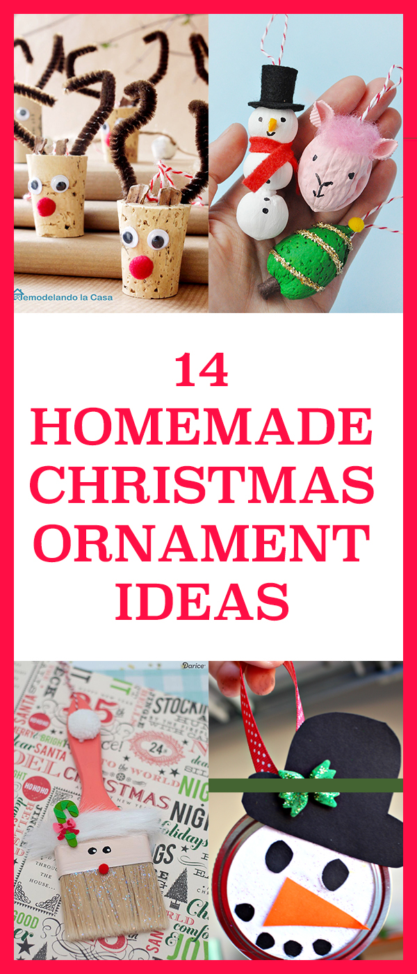 14 Homemade Christmas Ornament Ideas