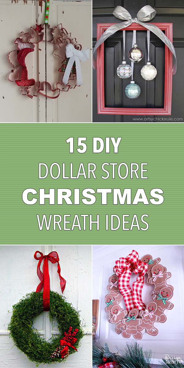 15 DIY Dollar Store Christmas Wreath Ideas