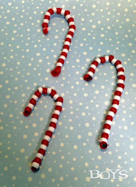 Easy Candy Cane Ornaments