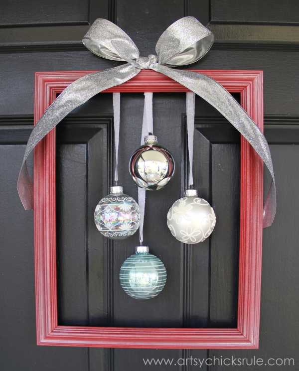 Holiday Framed Ornament Wreath