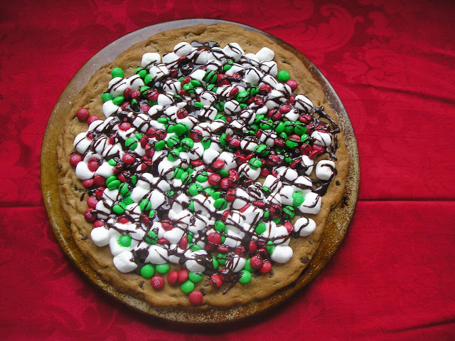 Jingle Bell Cookie Pizza