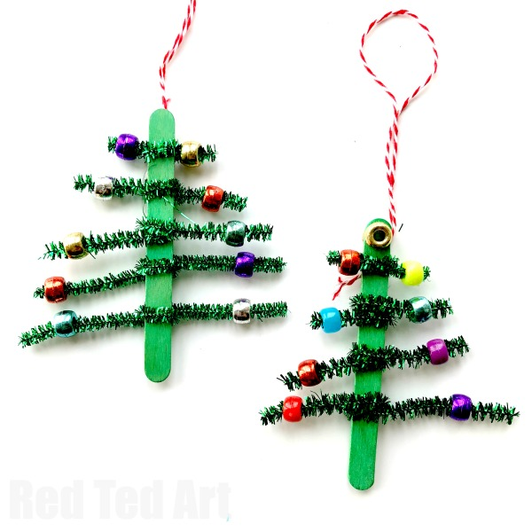 Pipe Cleaner Christmas Tree Ornaments