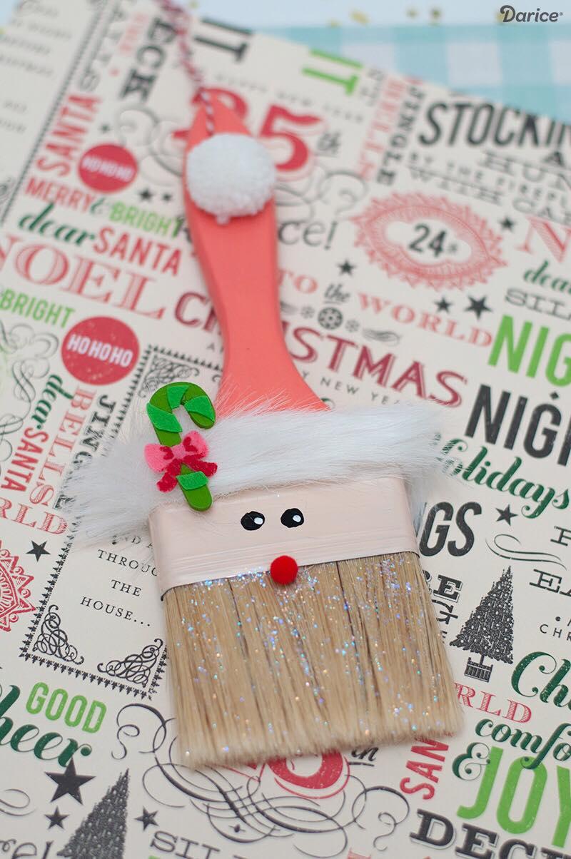 Santa Paintbrush Ornament