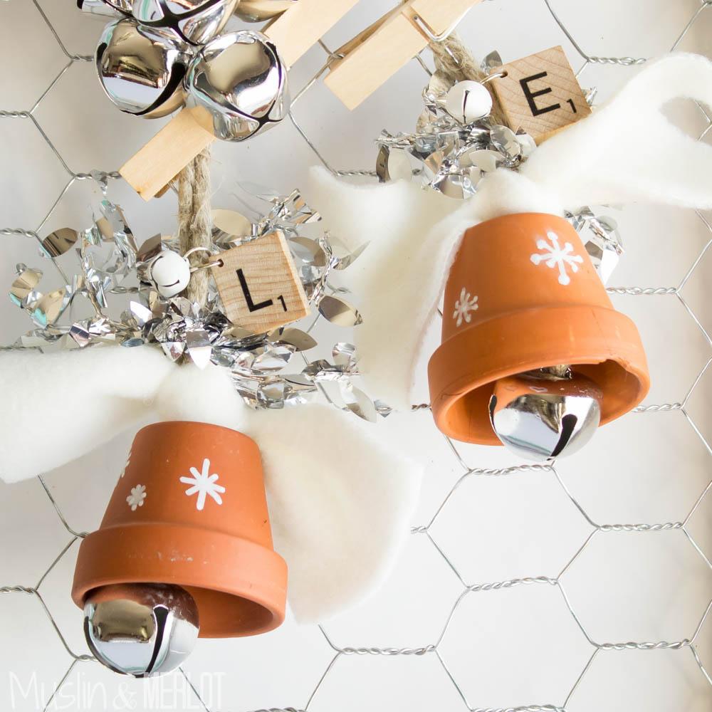 Terra Cotta Christmas Bells