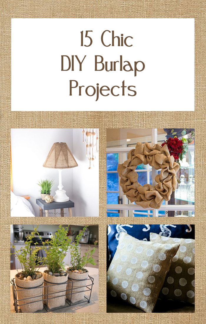 15 Chic DIY Burlap Projects