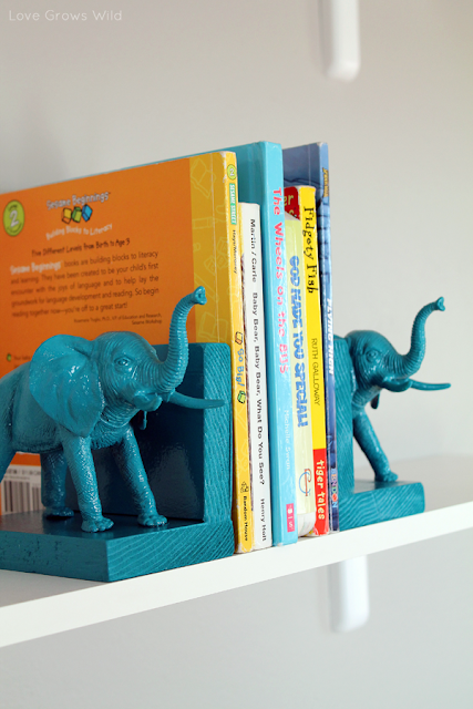 Plastic Elephant Book Ends