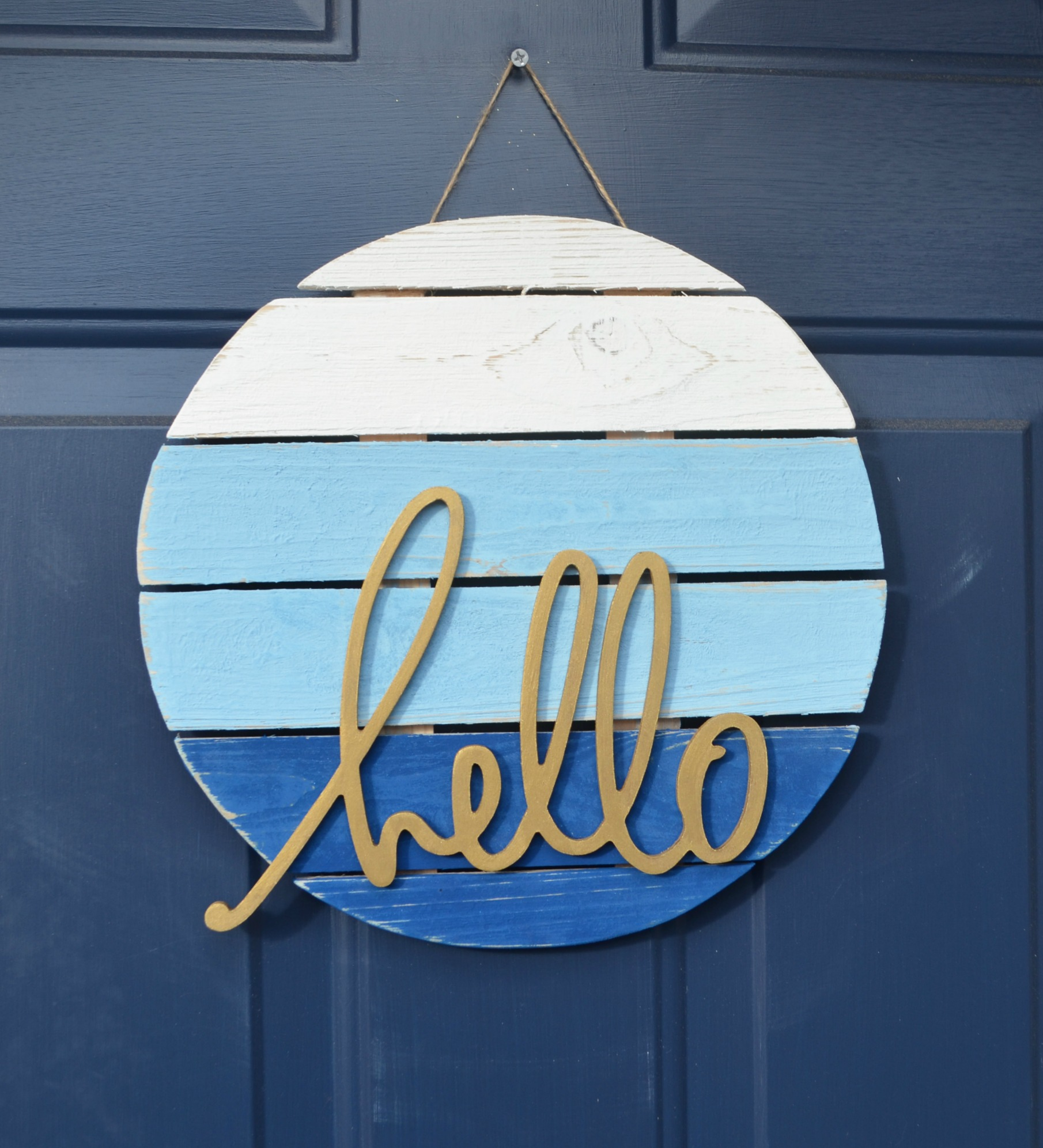 """Hello"" Front Door Sign"