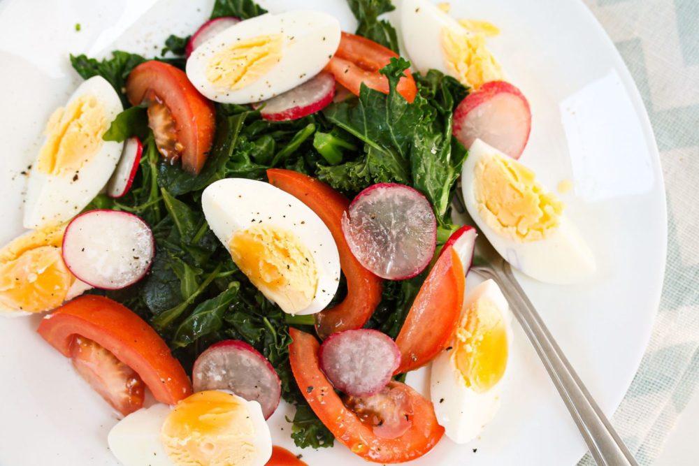 Crunchy Kale and Egg Salad