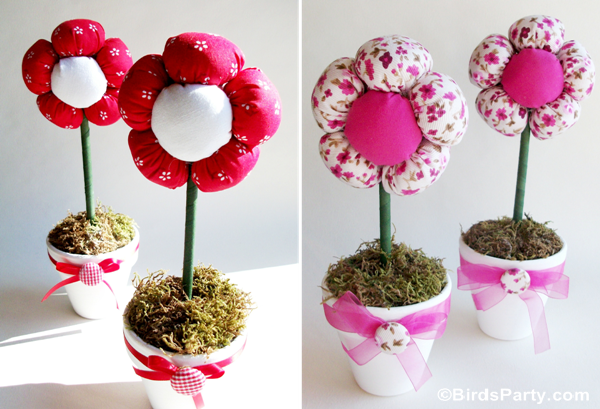 Plush Flower Pots Centerpiece