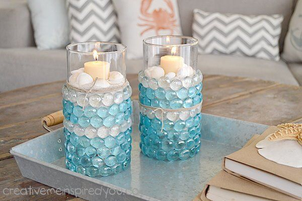 Dollar Store Candle Vases