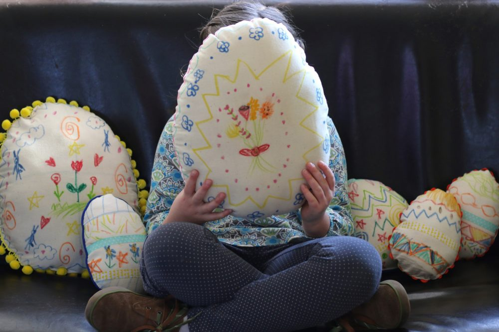 Easter Egg Pillows