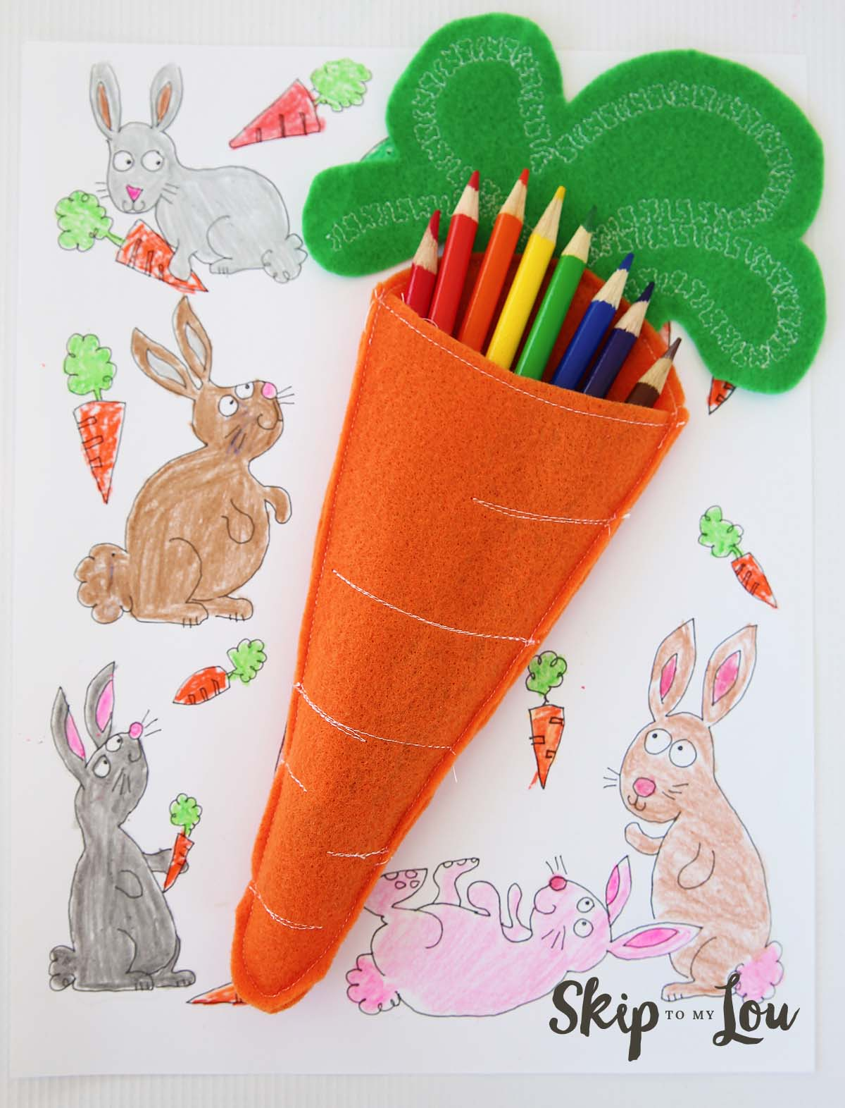 Felt Carrot Pencil Holder